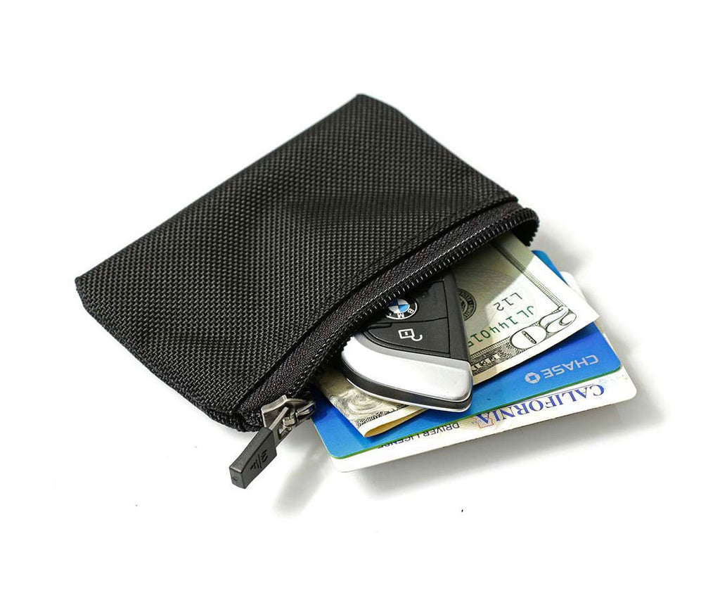 Micro Wallet for key, cash, cards. Insert into back mesh pocket.