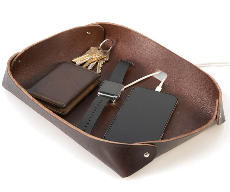 A convenient one-stop area  for keys, wallet,  electronics