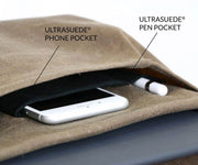 Two compartments keep everything organized