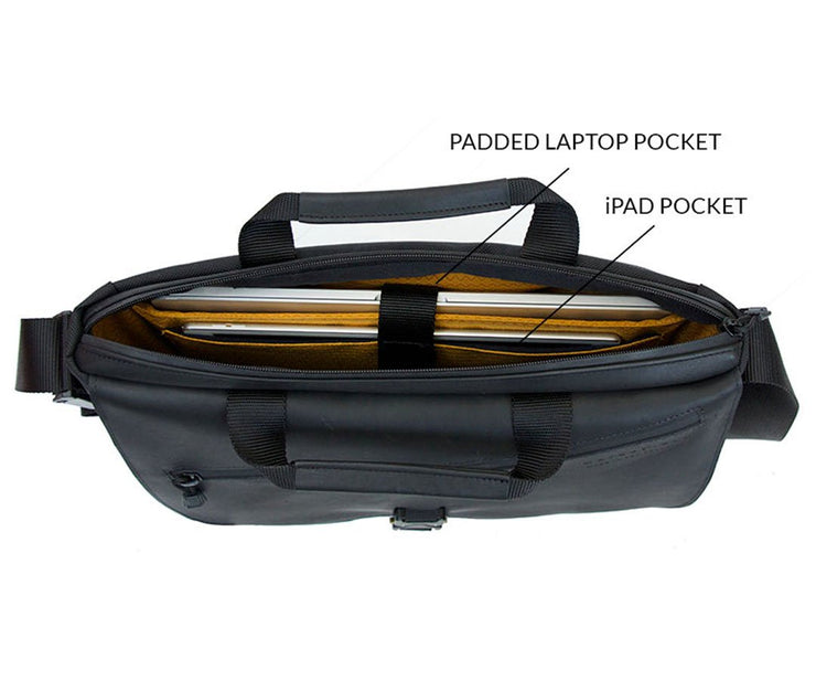 Padded laptop and tablet compartment