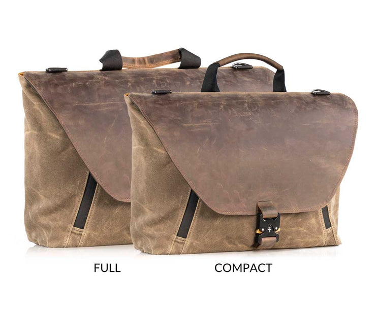 Available in two sizes. Both include two padded pockets for laptop and tablet.