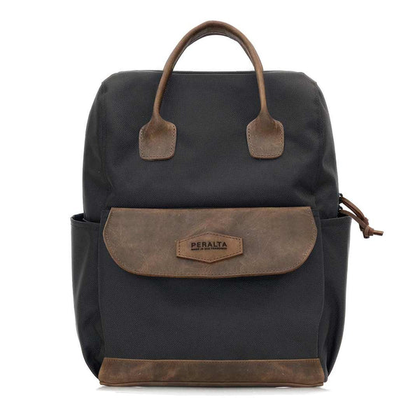 Ballistic Nylon with Brown Leather