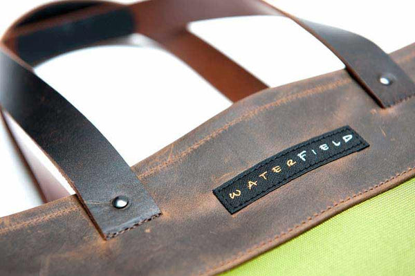 Franklin Tote hardware and full grain leather