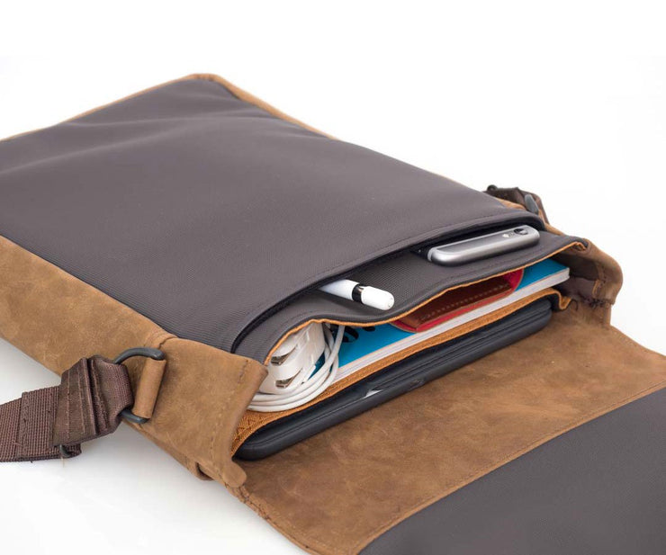 iPad Pro fit in the built-in padded compartment
