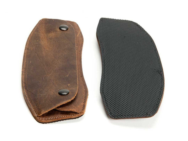 Premium Leather on Top, Non-slip material on Bottom