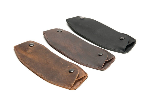 Leather Shoulder Pad - Grizzly, Chocolate, Black