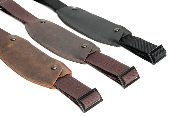 "1.5"" Simple Strap + Leather Shoulder Pad"