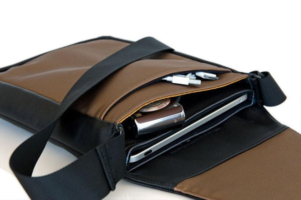 Muzetto laptop tablet bag - leather
