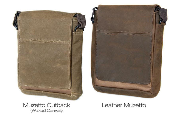 Leather and Canvas Muzetto side-by-side