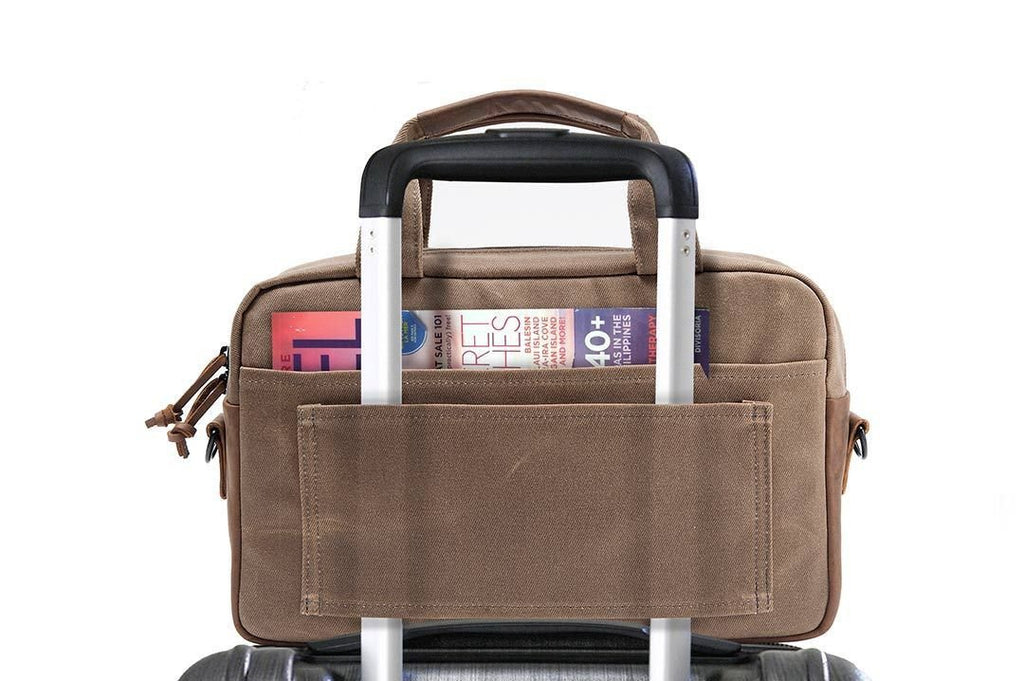 Bolt Briefcase Canvas back wheelie pocket