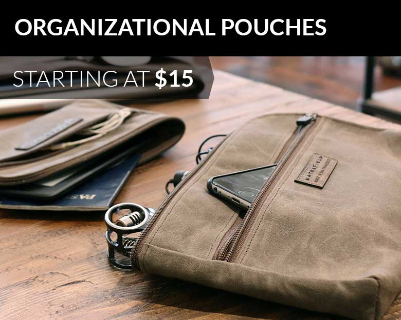 Organizational Pouches starting at $15