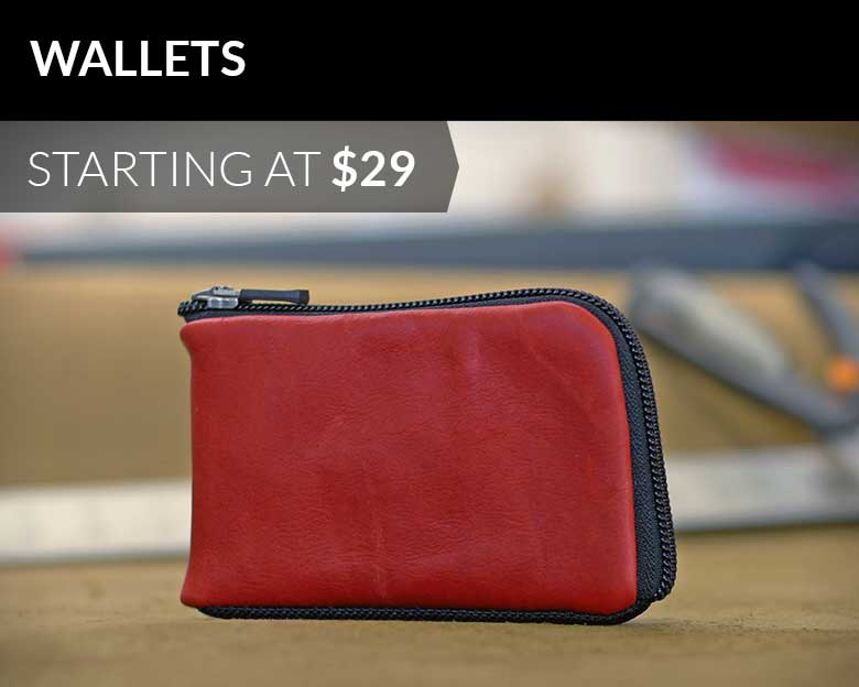 Wallets starting at $29