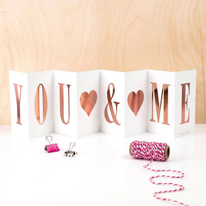 Concertina Card | You + Me | Luxury Boxed Concertina Card
