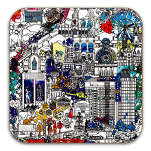 Load image into Gallery viewer, Sheffield Skyline coasters set of 4