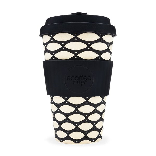 Ecoffee cup Basketcase (BLACK) 14 OZ