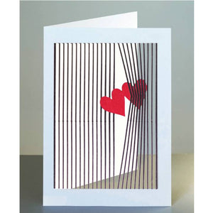 Forever 'laser cut Greeting Card - 2 hearths