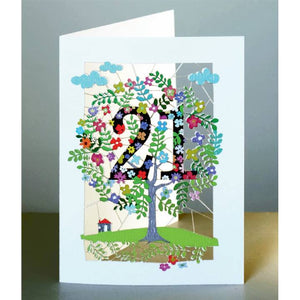 Forever  laser cut Birthday - Age cards- 18 to 90