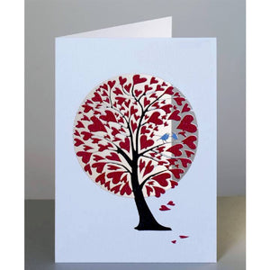 Forever laser cut Greeting Card -  tree of hearths