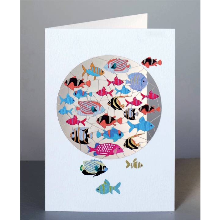 Forever 'laser cut Greeting Card - Vibrant fish design