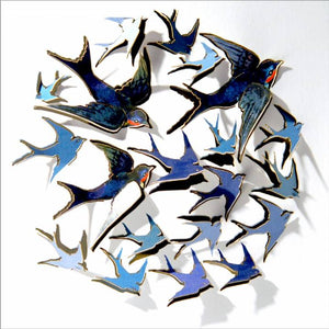 Forever 'push out' 3D sculpture effect Greeting Card - Swallows
