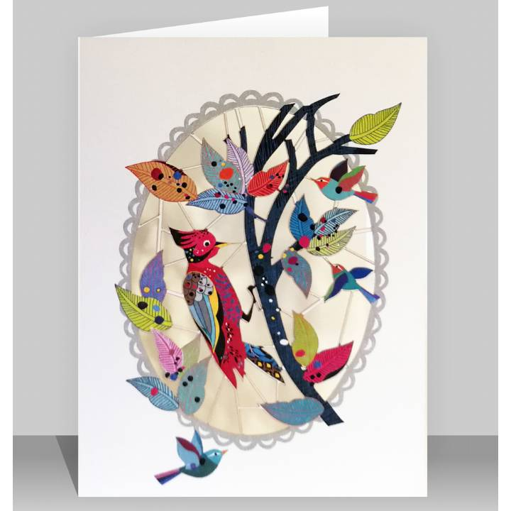 Forever laser cut Greeting Card - Woodpecker