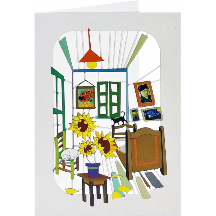Forever laser cut Greeting Card -  Artist's room