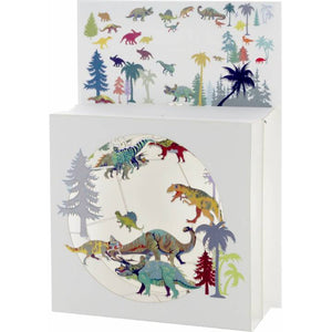 Forever laser cut Magic Box Greeting Card -dinosaurs