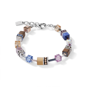 GeoCUBE® Bracelet blue-brown-lilac