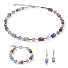 Load image into Gallery viewer, GeoCUBE® Bracelet blue-brown-lilac