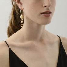 Load image into Gallery viewer, TABITHA DOUBLE EARRING GOLD PLATING