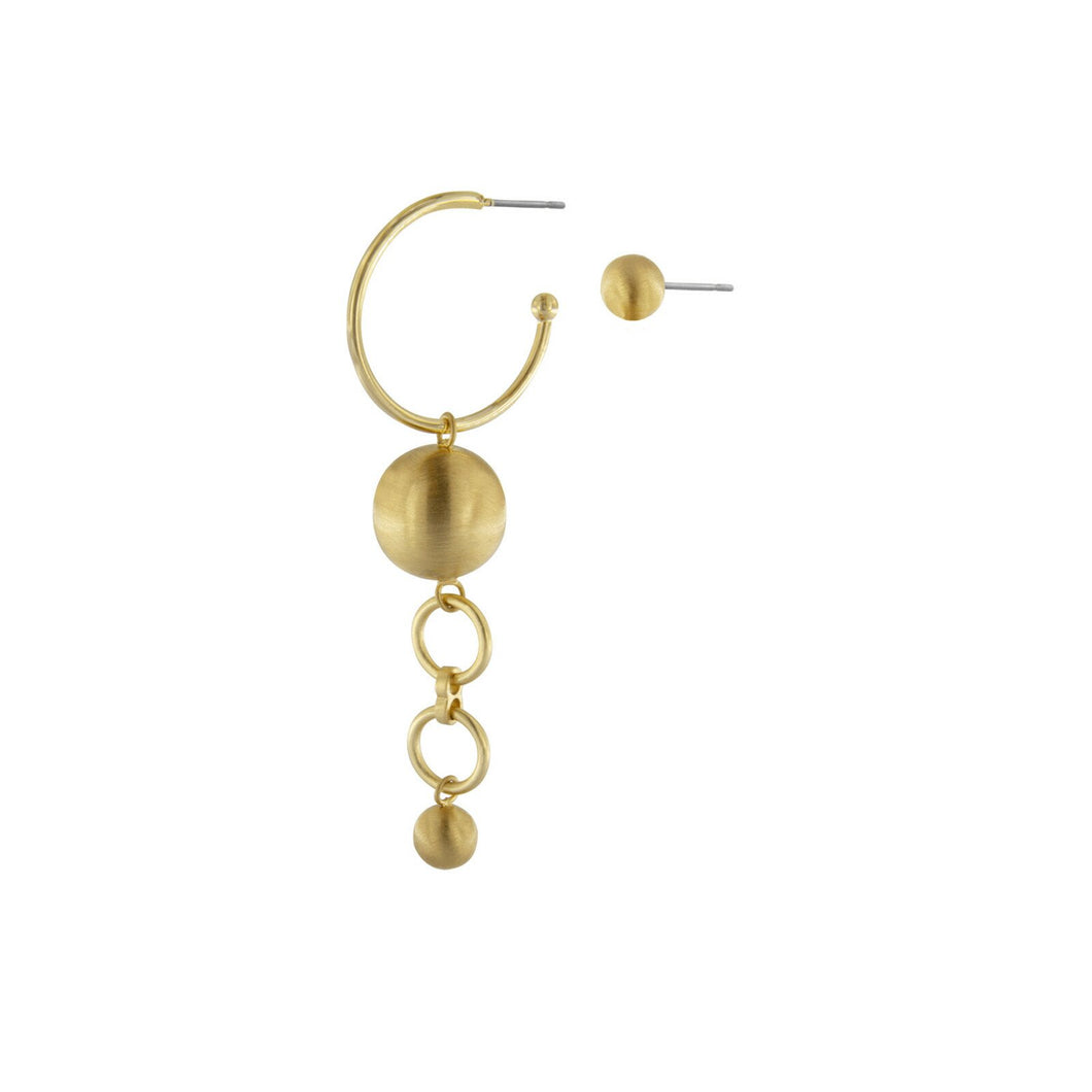 TABITHA DOUBLE EARRING GOLD PLATING