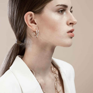 INDIAN DUNE EARRING RHODIUM PLATING