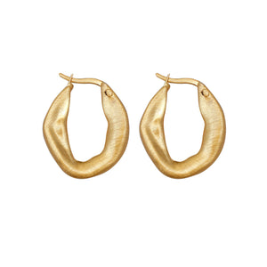 Ashley Hoop Earring Gold Plating