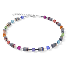 Load image into Gallery viewer, GeoCUBE® Necklace lilac - multicolour