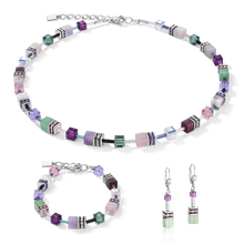 Load image into Gallery viewer, GeoCUBE® Earrings  lilac-green