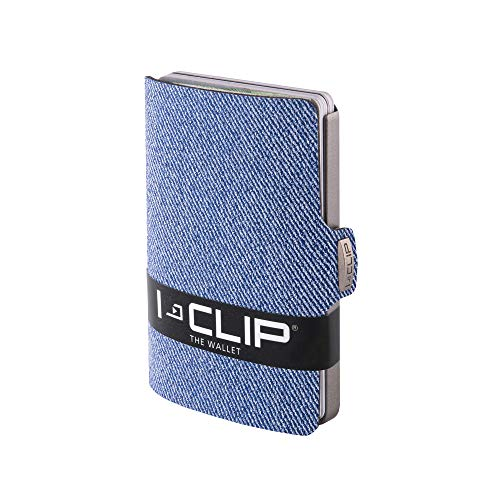 I-CLIP Wallet - Jeans look blue (non leather)