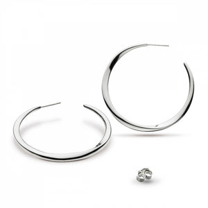 Bevel Curve 45mm Hoop Earrings