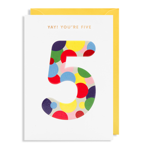 LD gift cards Birthday - Age cards- 1 to 9