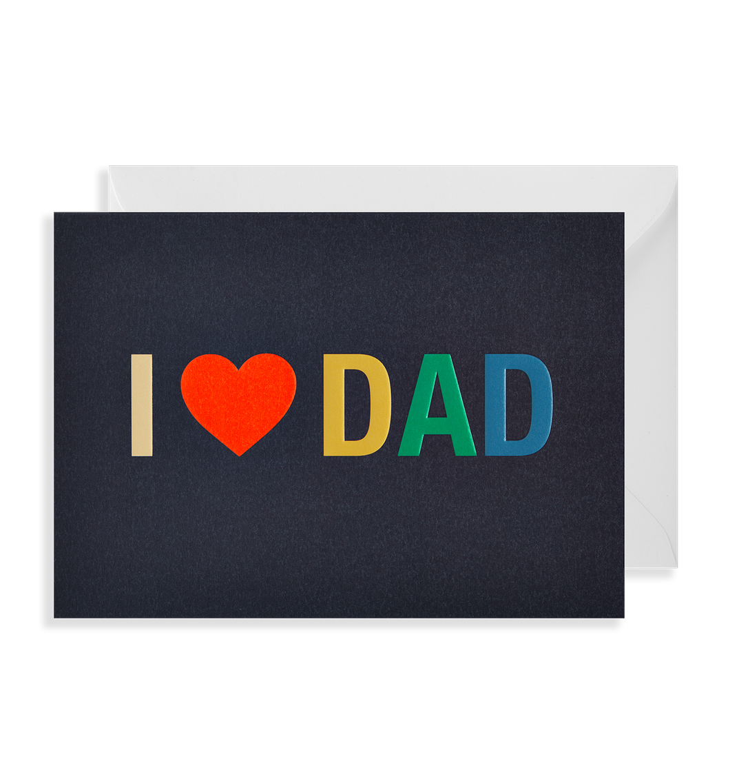 I Love Dad card
