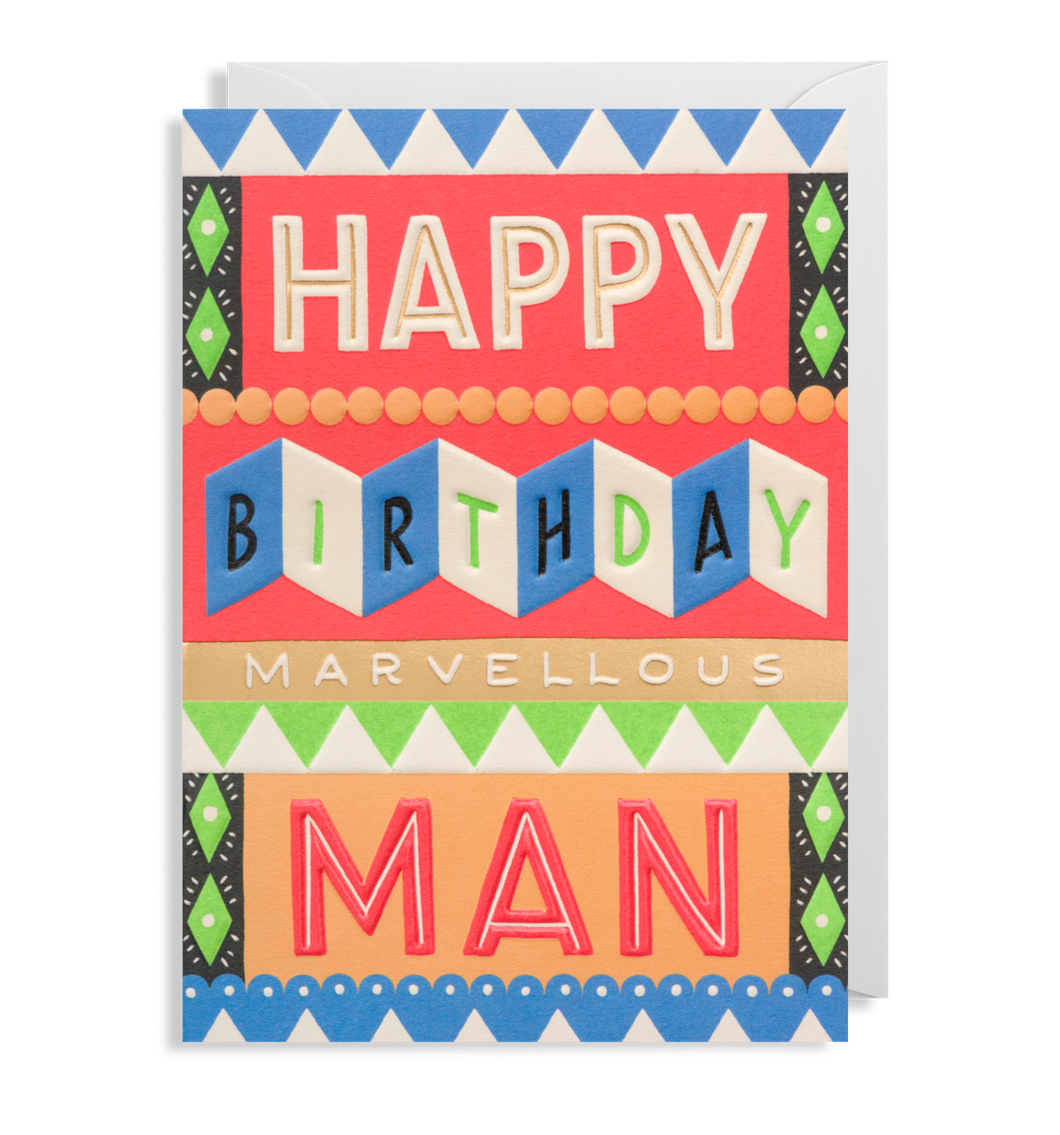 Happy Birthday lovely man greeting Card