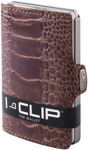 I-CLIP Wallet -ostrich  leather