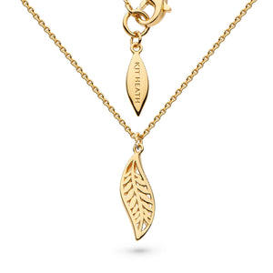 "Kit Heath Blossom Eden Mini Leaf Gold Plate 17"" Necklace"