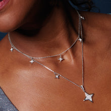 Load image into Gallery viewer, Empire Astoria Starburst CZ Stars Necklace