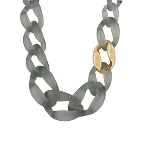 Quiver Grey Necklace Gold Plating