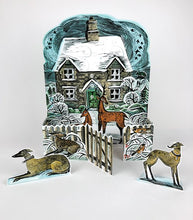 Load image into Gallery viewer, Christmas Cottage Freestanding Advent Calendar by Angela Harding