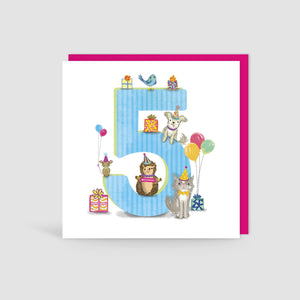 Children Age cards 1 to 8