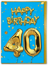 Load image into Gallery viewer, Baloons Age cards 18 to 70
