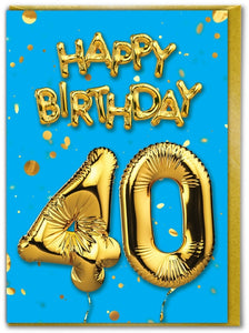 Baloons Age cards 18 to 70