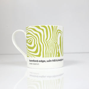 Peak District Contour mug-Bamford Edge, Win Hill & Ladybower