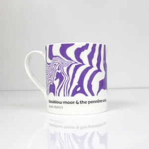 Peak District Contour mug-Bleaklow Moor & the Pennine Way